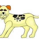 Yellow Spotty Dog Puppy Brad Paper Puppet