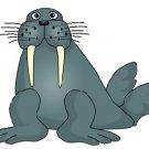 Sea Walrus Brad Paper Puppet