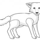 White Wolf Brad Paper Puppet