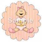 Baby Girl ~ Bundle of Joy Pink Baby Girl Baby Shower ~ Cupcake Toppers ~ Set of 1 Dozen