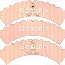 Baby Girl ~ Bundle of Joy Pink Baby Girl Baby Shower ~ Cupcake Wrappers ~ Set of 1 Dozen