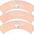 Sleeping Baby ~ Bundle of Joy Pink Baby Girl Baby Shower ~ Cupcake Wrappers ~ Set of 1 Dozen