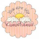 You Are My Sunshine ~ Bundle of Joy Pink Baby Girl Baby Shower ~ Cupcake Toppers ~ Set of 1 Dozen