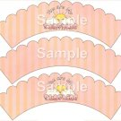 You Are My Sunshine ~ Bundle of Joy Pink Baby Girl Baby Shower ~ Cupcake Wrappers ~ Set of 1 Dozen
