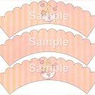 Umbrella ~ Bundle of Joy Pink Baby Girl Baby Shower ~ Cupcake Wrappers ~ Set of 1 Dozen