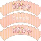 Variety of all ~ Bundle of Joy Pink Baby Girl Baby Shower ~ Cupcake Wrappers ~ Set of 1 Dozen