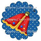 Spring Butterfly Red Blue Background ~ Cupcake Toppers ~ Set of 1 Dozen