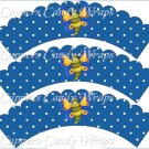 Spring Butterfly Yellow Blue Background ~ Cupcake Wrappers ~ Set of 1 Dozen