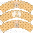 Childhood Cancer Find A Cure Baby Boy ~ Cupcake Wrappers ~ Set of 1 Dozen