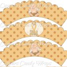 Childhood Cancer Find A Cure Baby Boy Angel ~ Cupcake Wrappers ~ Set of 1 Dozen