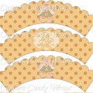 Childhood Cancer Find A Cure Baby Girl Angel ~ Cupcake Wrappers ~ Set of 1 Dozen