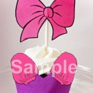 Daisy Duck Bow & Shirt Blouse ~ Inspired By Disney ~ Cupcake Wrapper & Topper Set