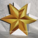Christmas Gold Star ~ Mini Treat Box Gift Tote Party Favor
