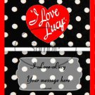 I Love Lucy Inspired Red Foil ~ Standard 1.55 oz Candy Bar Wrapper  SOE 1 Dozen