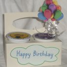 Happy Birthday Cream/White & Green with Balloons ~ K-Cup Gift Holder