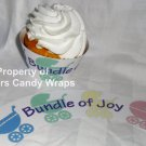 Bundle of Joy Baby Shower Welcome New Baby~ Cupcake Wrappers ~ Set of 1 Dozen