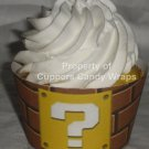 Mario Brothers, Bros Brown Brick Wall ~ Cupcake Wrappers ~ Set of 1 Dozen