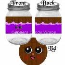 Shopkins Inspired Purple Chocolate Lid ~ Pint Glass Jar Label
