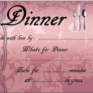 Rose Embossed Like Meal Gift Indentification and Instructions Cover Lid  ~ Foil Pan Lid Cover
