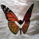 Orange Butterfly Place Holder and/or Drink Marker Blank Wing for Adding Name