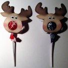 Reindeer Tootsie Pop Sucker Cover ~ 1 Dozen