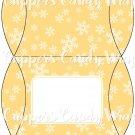 Orange Snowflake ~ Personalized It ~ Pillow Treat Gift Box Each