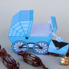 Blue Baby Carriage Buggy Baby Shower Treat or Gift Box 1 EACH