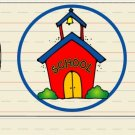 Back to School Schoolhouse ~ Personalized It  ~ Pillow Treat Gift Box Each