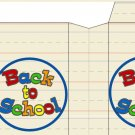 Back to School  ~ Large Square Top Pinch Treat or Gift Box 1 EACH