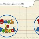Back to School  ~ Small Square Top Pinch Treat or Gift Box 1 EACH