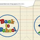 """Back to School """"logo"""" and Schoolhouse ~ Small Square Top Pinch Treat or Gift Box 1 EACH"""