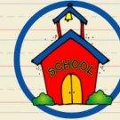 Back to School Schoolhouse ~ Water Bottle Wrapper ~ Set of 12