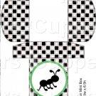Black White Checkered Watermelon Round Green Ant ~ Hershey's Mini Candy Bar 4 Wrapper Box