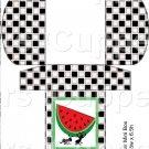 Black White Checkered Watermelon Ant~Square Green Watermelon~Hershey's Mini Candy Bar 4 Wrapper Box