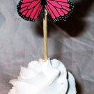 Orange Mini 3D Butterfly Cupcake Topper, Cupcake Topper Butterflies Themed Party, Birthday