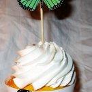 Orange Standard Size 3D Butterfly Cupcake Topper & Wrapper Set, Butterflies, Birthday