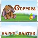 Happy Easter Standard Size (1.55oz.) Candy Bar Wrapper, Brown Bunny,  Easter Basket