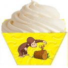 Courious George Butterfly on a Log ~ Standard Size  Cupcake Topper & Wrapper Set