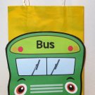 Green School Bus Inspired Gift or Treat Bag