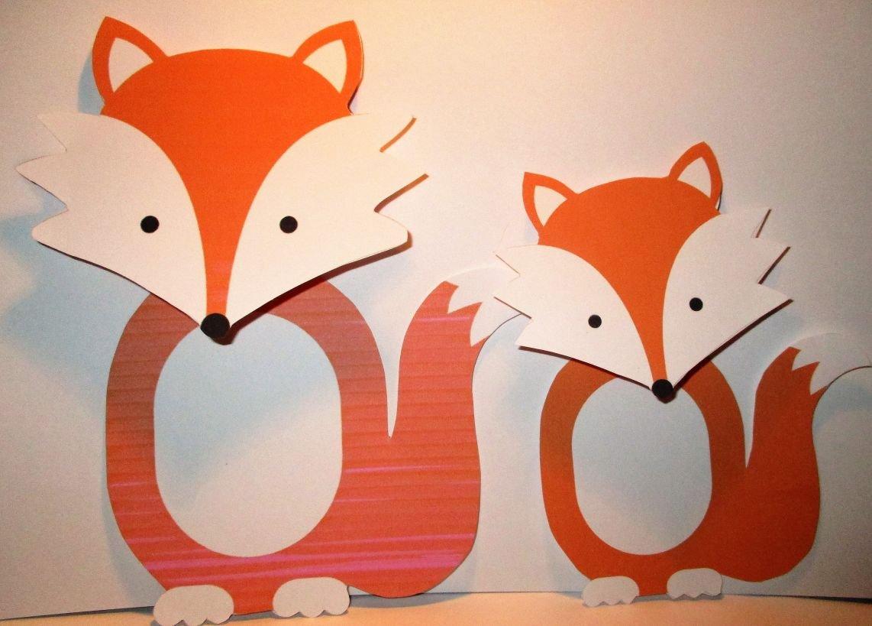 Fox Woodland Animal Treat Bag Topper ~ Large