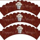 Flowers For Sale #3 ~ Cupcake Wrappers ~ Set of 1 Dozen