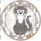 Cat All Over Print Individual Cat #1 ~ Cupcake Topper ~ Set of 1 Dozen
