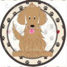 Dog Paws Golden Retriever  ~ Cupcake Topper ~ Set of 1 Dozen