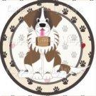 Dog Paws St. Bernard #2 ~ Cupcake Topper ~ Set of 1 Dozen