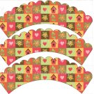 Birdhouses ~ Cupcake Wrappers ~ Set of 1 Dozen