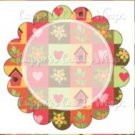 Birdhouses Personalize it! ~ Cupcake Topper ~ Set of 1 Dozen