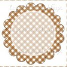 Brown Gingham Personalize it! ~ Cupcake Topper ~ Set of 1 Dozen