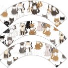 Cats All Over ~ Cupcake Wrappers ~ Set of 1 Dozen