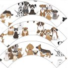 Dogs All Over ~ Cupcake Wrappers ~ Set of 1 Dozen