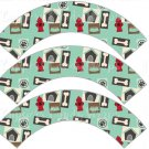 Dog House and Bone All Over ~ Cupcake Wrappers ~ Set of 1 Dozen